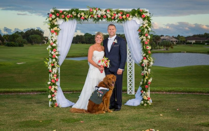 Wounded Veteran Picks His Service Dog To Be His Best Man At The Wedding