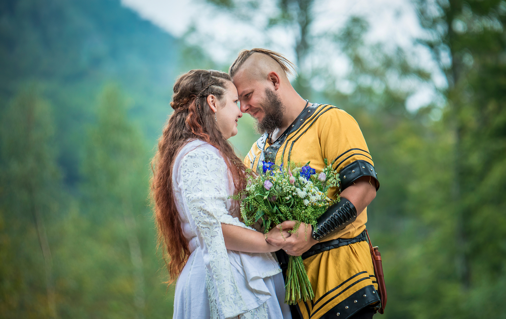Couple got married in first traditional Viking wedding for almost